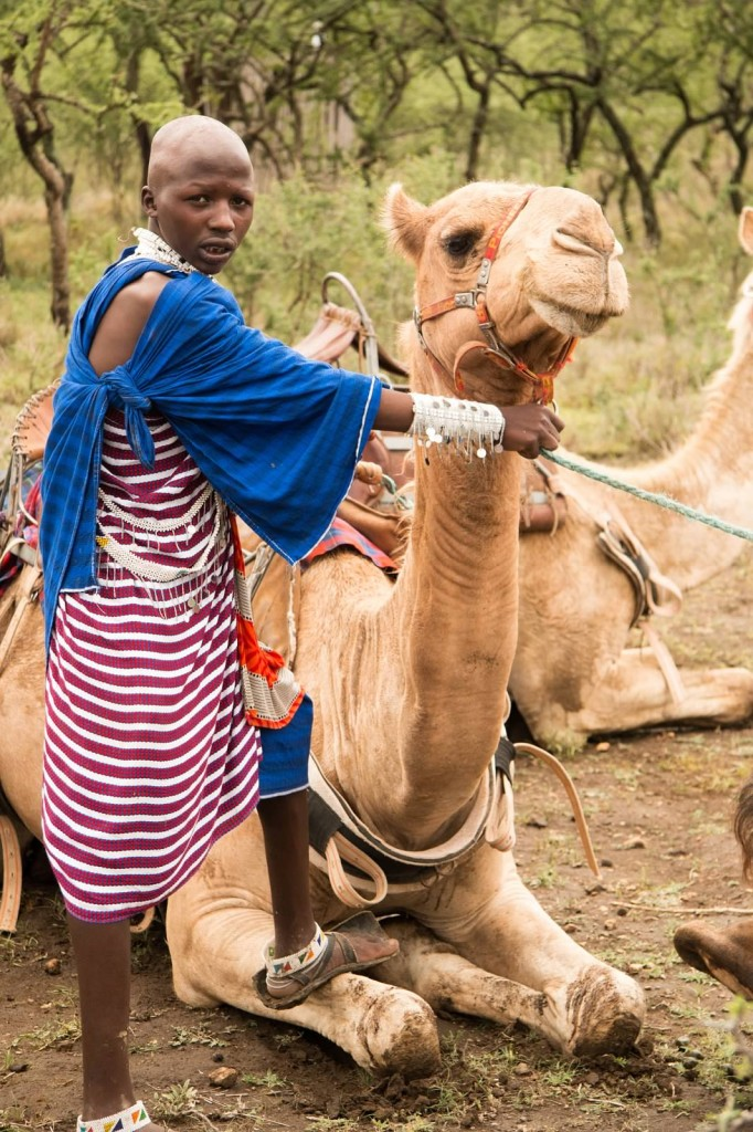 Camel Ride at Mkuru - Tania with Safari Infinity